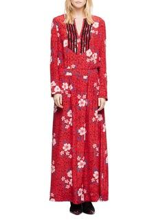 Zadig & Voltaire Remus Pensee Silk Maxi Dress
