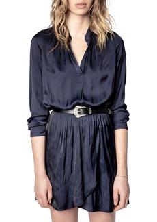 Zadig & Voltaire Rinka Long Sleeve Satin Dress