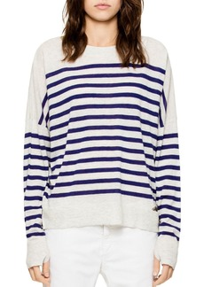 Zadig & Voltaire Rony Striped Cashmere Sweater