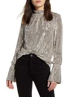 Zadig & Voltaire Sequin Bell Sleeve Top