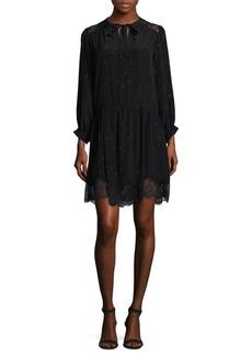 Zadig & Voltaire Silk Mesh Shift Dress