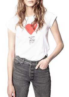 Zadig & Voltaire Skinny Je T'aime Graphic Tee