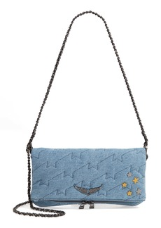 Zadig & Voltaire Small Rocky Quilted Denim Shoulder Bag