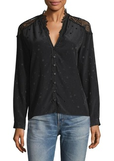 Zadig & Voltaire Star Button Front Blouse
