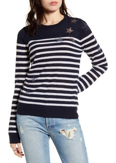 Zadig & Voltaire Stars & Stripes Embellished Cashmere Sweater