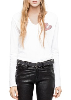 Zadig & Voltaire Strass Embellished Tee