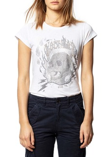Zadig & Voltaire Strass Flame Tee