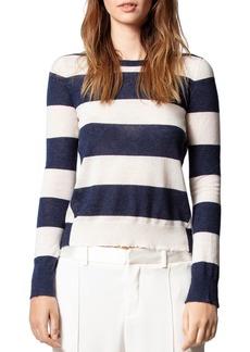 Zadig & Voltaire Striped Cashmere Sweater