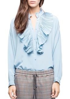 Zadig & Voltaire Tamacco Ruffled Silk Shirt