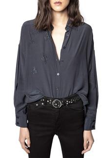 Zadig & Voltaire Tamara Strass Rhinestone Shirt