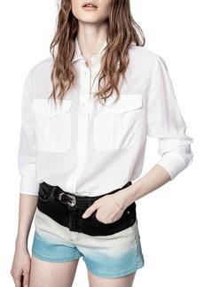 Zadig & Voltaire Taska Tomboy Button-Up Shirt