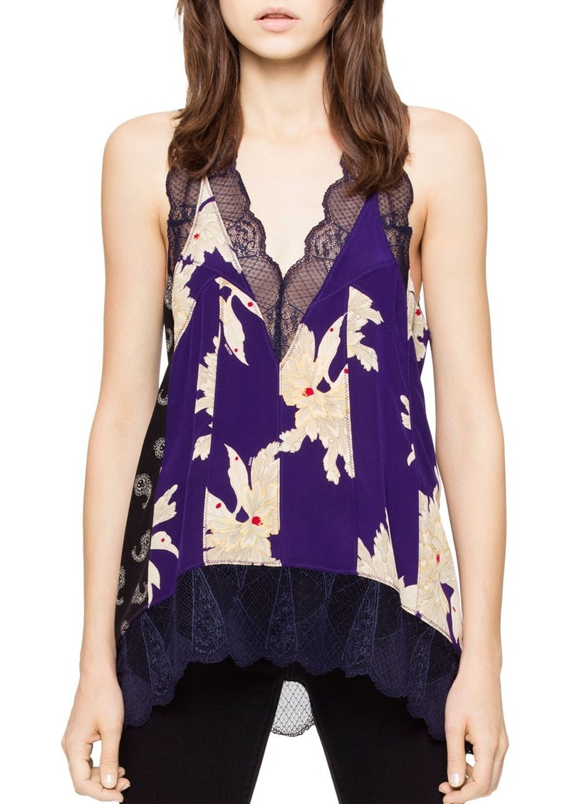 5863afcdb5e Zadig & Voltaire Zadig & Voltaire Tavis Blossom Silk Top | Casual Shirts