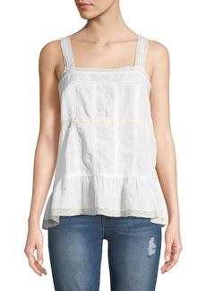 Zadig & Voltaire Teacup Tank with Lace Trim