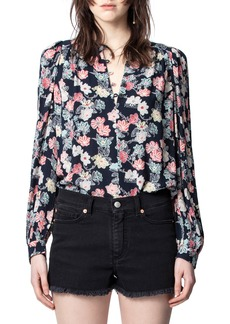 Zadig & Voltaire Tifany Flower Print Blouse