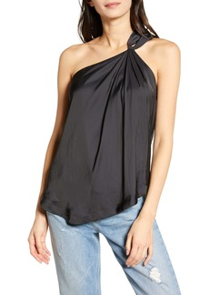 Zadig & Voltaire Tiki Satin One-Shoulder Tank Top