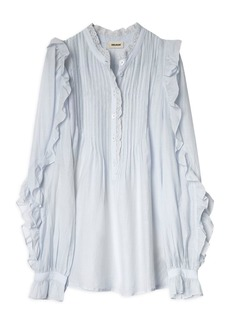 Zadig & Voltaire Timmy Tomboy Pleated Ruffled Top