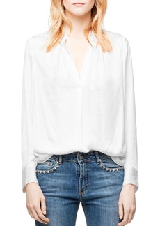Zadig & Voltaire Tink Satin Tunic Top