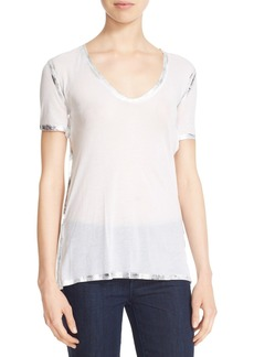 Zadig & Voltaire 'Tino' Foil Accent Tee