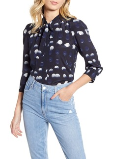 Zadig & Voltaire Touch Dots Tie Neck Silk Shirt