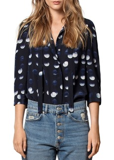 Zadig & Voltaire Touch Polka-Dot-Printed Silk Tunic