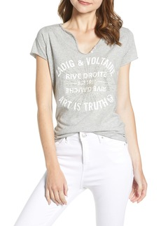 Zadig & Voltaire Tunisien Art Is Truth Starburst Split Neck Cotton Tee