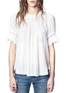 Zadig & Voltaire Tupel Lace Trim Top