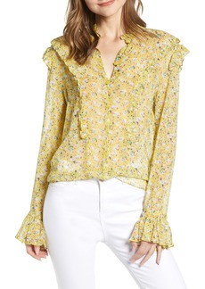 Zadig & Voltaire Tweet Anenome Floral Ruffle Blouse