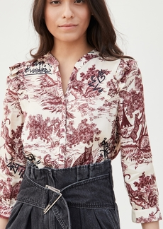 Zadig & Voltaire Tygg Jouy Satin Blouse