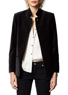 Zadig & Voltaire Volly Velour Blazer