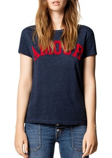 Zadig & Voltaire Walk Amour Chine Overdyed Tee