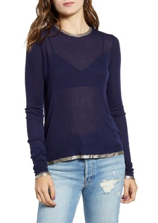 Zadig & Voltaire Willy Foil Trim Modal Tee
