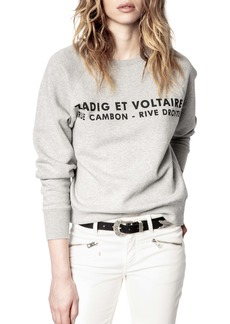Zadig & Voltaire Women's Graphic Fleece Sweatshirt