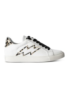 Zadig & Voltaire Women's Leopard-Trim Low-Top Sneakers