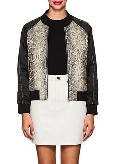 Zadig & Voltaire Women's Snakeskin-Pattern Cotton-Blend Bomber Jacket