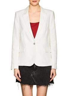 Zadig & Voltaire Women's Victor Herringbone Cotton-Linen One-Button Blazer