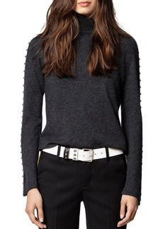 Zadig & Voltaire Wool-Blend Studded Turtleneck Sweater