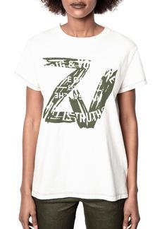 Zadig & Voltaire Zoe Blason Logo Graphic Tee