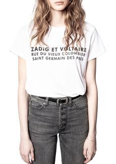 Zadig & Voltaire Zoe Graphic Tee