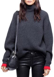 Zadig & Voltaire Zoe Wy Funnel-Neck Sweater