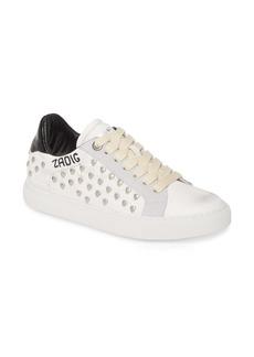 Zadig & Voltaire ZV1747 Heart Stud Sneaker (Women)