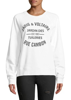Zadig & Voltaire Zadig Distressed Logo Sweatshirt