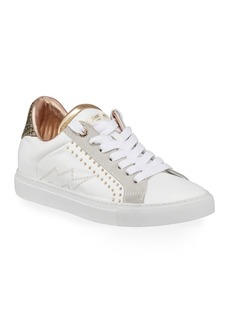 Zadig & Voltaire ZV1747 Low-Top Studded Leather Sneaker