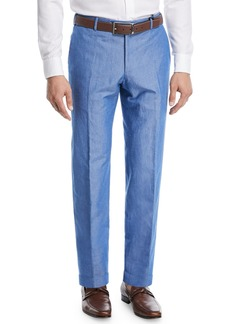 Zanella Cotton/Linen Slub Trouser Pants
