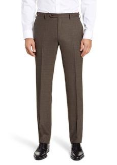 Zanella Curtis Flat Front Stretch Wool Dress Pants