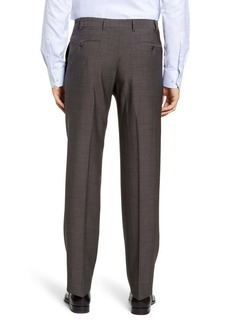 Zanella Devon Flat Front Dot Wool Dress Pants