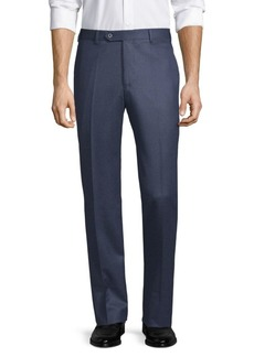 Zanella Devon Flat-Front Virgin Wool Pants