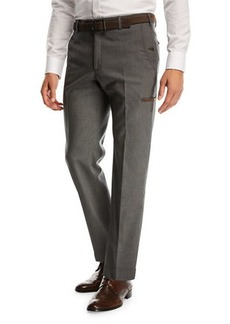 Zanella Flat-Front Travel Trousers