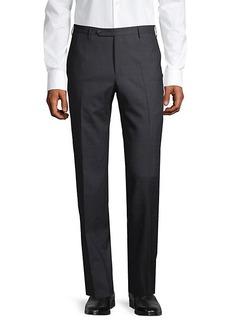 Zanella Flat-Front Wool Pants