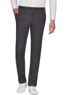 Zanella Josh Jersey Wool Slim Straight-Leg Dress Trousers
