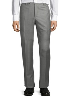 Zanella Large-Plaid Wool Trousers